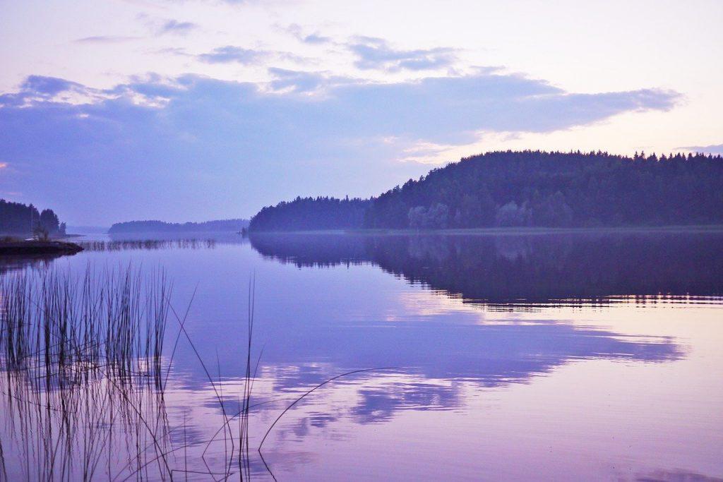 lake, landscape, nature